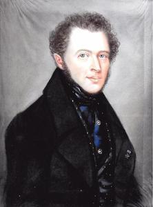 Portret van een man, genaamd Willem Frederik Kissing