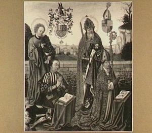 Dubbelportret van Jan III van Glymes (1452-1532) en Hendrik van Glymes (?-?), met schutspatronen Johannes Evangelista (?-?) en keizer Hendrik II (973-1024)