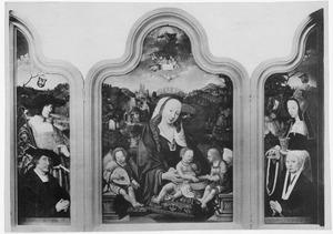 Drieluik met Pompeius Occo en de H. Sebastiaan (links), Maria met kind en engelen (midden), Gerbrich Claesdr. en de H. Maria Magdalena (rechts)