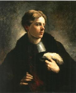 Zelfportret van Wilhelm Trübner (1851-1917)