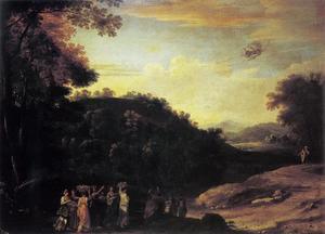 Landschap met Mercurius