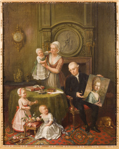 Portret van de familie van Johan Maurits van Pabst van Bingerden (1740-1824)