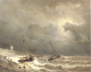 Het veiligstellen van de schepen bij hoog tij