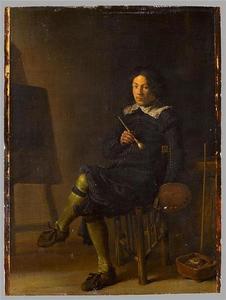 Zelfportret van Cornelis Saftleven (1607-1681)