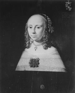 Portret van Geertruida Alberda (1628-1665)