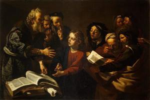 Christus als twaalfjarige tussen schriftgeleerden in de tempel