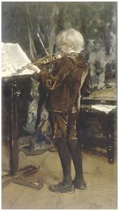 De violist (zoon van de schilder)