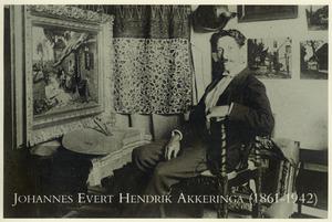 Johannes Akkeringa in zijn atelier