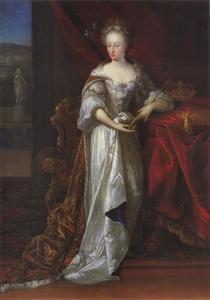Portret van Maria Anna van Neuburg, toekomstige koningin van Spanje (1667-1740)
