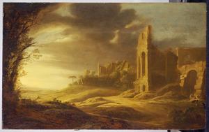 Landschap met Romeinse ruïnes