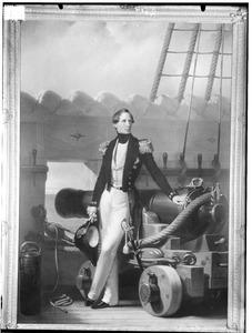 Portret van prins Hendrik 'de Zeevaarder' (1820-1879) als vlagofficier