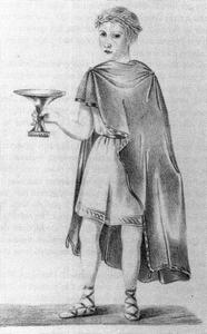 Portret van Christiaan van Lennep (1828-1908) verkleed als Ovidius