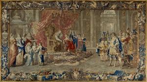 Guglielmo Raimondo Moncada graaf van Augusta neemt afscheid van de verdrietige konigin om zich in te schepen voor zijn Spaanse missie