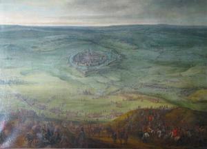 Het beleg van Lens door de keizerlijke troepen onder aartshertog Leopold Wilhelm en Ottavio Piccolomini, June 1647
