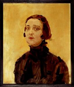 Portret van da actrice Fien de la Mar (1898-1965)