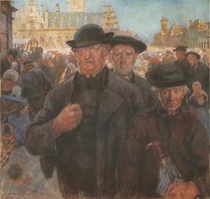 Marktdag te Middelburg