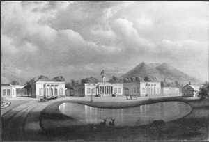 Reis van Suez naar Nagasaki via Oost-Indië: Gezicht op een landgoed