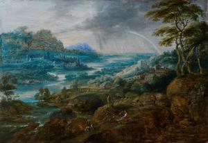 Landschap met regenboog