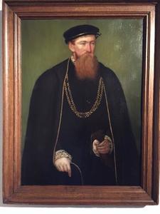 Portret van een man, genaamd Johan Mom (1515-1591)