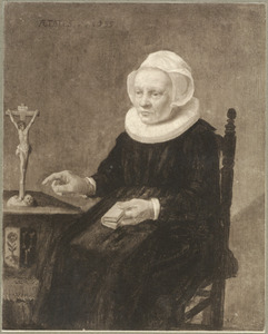 Portret van een oude dame