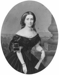 Portret van Catharina Constantia Wilhelmina van Limburg Stirum (1834-1871)