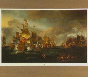 Slag bij Lowestoft tussen Engelse en Hollandse schepen, 13 juni 1665