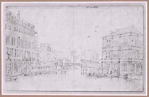 De Oude Rialtobrug te Venetië, afgebroken in 1588