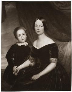 Portret van Cecilia Maria Steengracht (1813-1899) en haar zoon Frederik Willem Anna baron van Pallandt (1838-1878)