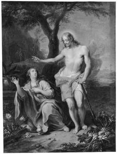 Maria Magdalena knielend voor Christus
