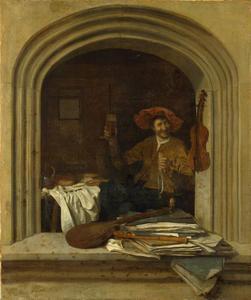 Muzikant aan het ontbijt