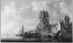 Rivierlandschap met de Utrechtse Pellecussenpoort