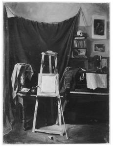 Het atelier van de schilder Jan Toorop