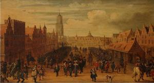 De afdanking van de waardgelders op de Neude te Utrecht op 31 juli 1618