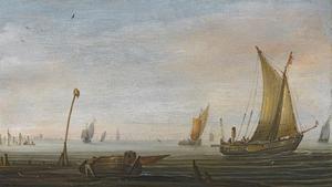Kleine schepen bij de kust