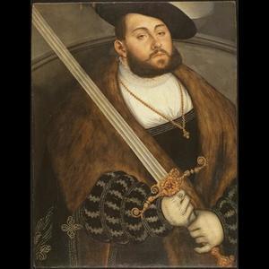 Portret van Johann Friedrich I de Grootmoedige, keurvorst van Saksen (1503-1554)