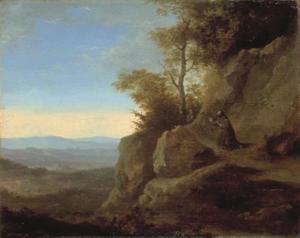 Landschap met Hl. Franciscus