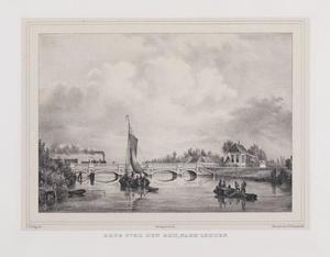 Spoorbrug over de Rijn bij Leiden