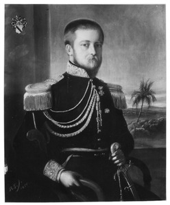 Portret van Jacob Carel Frederik Baron van Heerdt (1817-1880), adjudant van Gouverneur Generaal A.J. van Twist