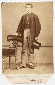 Portret van Petrus Wilhelmus Johannes Meershoek (1851-1871)