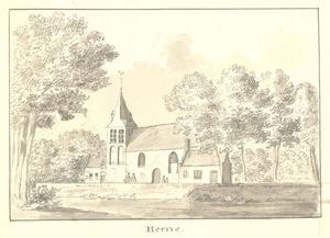 Hernen, gezicht op de kerk