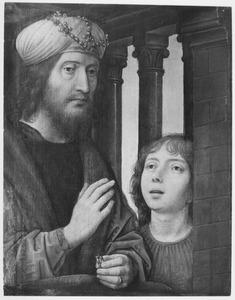 Koning David ziet vanuit zijn paleis Batseba baden; hij zendt een jonge bediende om haar te roepen (2 Samuel 11:4)