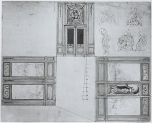 Plattegrond voor een interieur voor Diederik Caspar Jamin