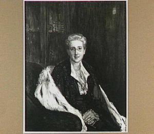 Portret van Jonkvrouwe Christina Jacoba Quintus (1864-1932), huwde in 1885 Jonkheer Mr. Dr. Edzard Tjarda van Starkenborch Stachouwer