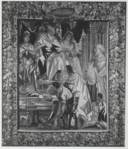 Karel de Grote benoemt zijn zoon Louis tot mederegent en zijn kleinzoon Bernard tot koning van Italië