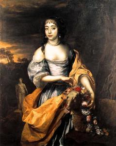 Portret van een vrouw, waarschijnlijk Maria van Oranje-Nassau (1642-1688)