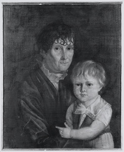 Portret van Anna de Moers (1765-1842) en Hieronymus Johannes Wilhelmus van Aken (1796-1860)