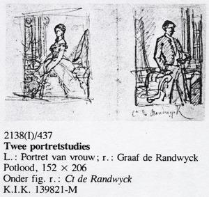 """Portret van de """"ct. de randwijck"""" en een onbekende vrouw"""