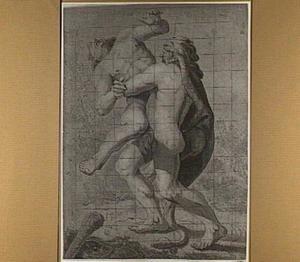 Hercules worstelt met Antaeus (Apollodorus 2.5:11; Diodorus Siculus 4)