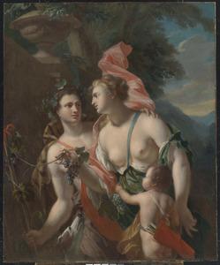Venus, Bachus en  Cupid