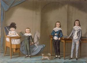 Portret van kinderen van Hendrik Gijsbert Knoops (1753-1813)